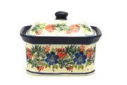 Ceramika Artystyczna Polish Pottery Cake Box - Small - Garden Party 385-1535a (Ceramika Artystyczna)