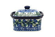 Ceramika Artystyczna Polish Pottery Cake Box - Small - Huckleberry 385-1413a (Ceramika Artystyczna)
