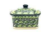 Ceramika Artystyczna Polish Pottery Cake Box - Small - Irish Meadow 385-1888q (Ceramika Artystyczna)