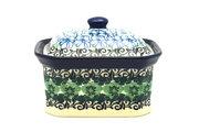 Ceramika Artystyczna Polish Pottery Cake Box - Small - Kiwi 385-1479a (Ceramika Artystyczna)