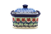 Ceramika Artystyczna Polish Pottery Cake Box - Small - Maraschino 385-1916a (Ceramika Artystyczna)
