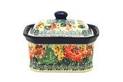 Ceramika Artystyczna Polish Pottery Cake Box - Small - Unikat Signature - U4400 385-U4400 (Ceramika Artystyczna)