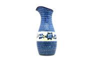 Ceramika Artystyczna Polish Pottery Carafe - 2 1/2 pint - Blue Poppy D18-163a (Ceramika Artystyczna)