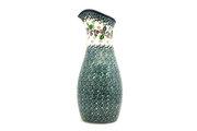 Ceramika Artystyczna Polish Pottery Carafe - 2 1/2 pint - Burgundy Berry Green D18-1415a (Ceramika Artystyczna)