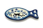 Ceramika Artystyczna Polish Pottery Cat Treat Dish - Boo Boo Kitty B47-1771a (Ceramika Artystyczna)