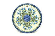 "Ceramika Artystyczna Polish Pottery Cheese Board - 7 1/4"" - Blue Bells 413-1432a (Ceramika Artystyczna)"