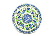 "Ceramika Artystyczna Polish Pottery Cheese Board - 7 1/4"" - Blue Berries 413-1416a (Ceramika Artystyczna)"