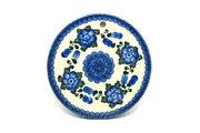 "Ceramika Artystyczna Polish Pottery Cheese Board - 7 1/4"" - Blue Poppy 413-163a (Ceramika Artystyczna)"