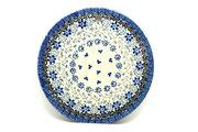 """Ceramika Artystyczna Polish Pottery Cheese Board - 7 1/4"""" - Silver Lace 413-2158a (Ceramika Artystyczna)"""