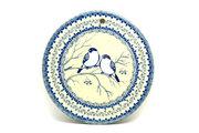 """Ceramika Artystyczna Polish Pottery Cheese Board - 8 1/2"""" - Unikat Signature - U4830 414-U4830 (Ceramika Artystyczna)"""