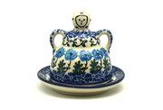 Ceramika Artystyczna Polish Pottery Cheese Lady - Miniature - Antique Rose 112-1390a (Ceramika Artystyczna)