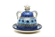 Ceramika Artystyczna Polish Pottery Cheese Lady - Miniature - Aztec Sky 112-1917a (Ceramika Artystyczna)