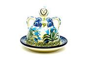 Ceramika Artystyczna Polish Pottery Cheese Lady - Miniature - Blue Bells 112-1432a (Ceramika Artystyczna)