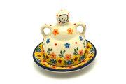 Ceramika Artystyczna Polish Pottery Cheese Lady - Miniature - Buttercup 112-2225a (Ceramika Artystyczna)