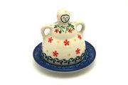 Ceramika Artystyczna Polish Pottery Cheese Lady - Miniature - Cherry Jubilee 112-2284a (Ceramika Artystyczna)