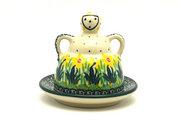 Ceramika Artystyczna Polish Pottery Cheese Lady - Miniature - Daffodil 112-2122q (Ceramika Artystyczna)