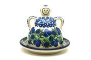 Ceramika Artystyczna Polish Pottery Cheese Lady - Miniature - Huckleberry 112-1413a (Ceramika Artystyczna)
