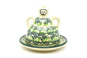 Ceramika Artystyczna Polish Pottery Cheese Lady - Miniature - Irish Meadow 112-1888q (Ceramika Artystyczna)