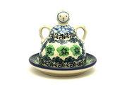 Ceramika Artystyczna Polish Pottery Cheese Lady - Miniature - Kiwi 112-1479a (Ceramika Artystyczna)