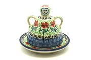 Ceramika Artystyczna Polish Pottery Cheese Lady - Miniature - Maraschino 112-1916a (Ceramika Artystyczna)