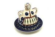 Ceramika Artystyczna Polish Pottery Cheese Lady - Miniature - Peacock 112-054a (Ceramika Artystyczna)