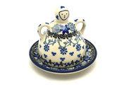 Ceramika Artystyczna Polish Pottery Cheese Lady - Miniature - Silver Lace 112-2158a (Ceramika Artystyczna)