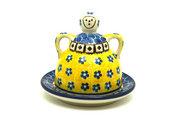 Ceramika Artystyczna Polish Pottery Cheese Lady - Miniature - Sunburst 112-859a (Ceramika Artystyczna)