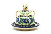 Ceramika Artystyczna Polish Pottery Cheese Lady - Miniature - Sweet Violet 112-1538a (Ceramika Artystyczna)