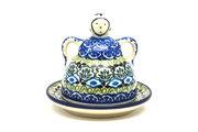 Ceramika Artystyczna Polish Pottery Cheese Lady - Miniature - Tranquility 112-1858a (Ceramika Artystyczna)