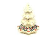 "Ceramika Artystyczna Polish Pottery Christmas Tree - Large (7 1/2"") - Christmas Pageant A67-1970a (Ceramika Artystyczna)"