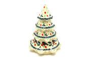 "Ceramika Artystyczna Polish Pottery Christmas Tree - Large (7 1/2"") - Red Robin A67-1257a (Ceramika Artystyczna)"