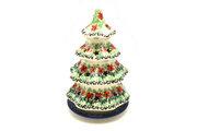 """Ceramika Artystyczna Polish Pottery Christmas Tree Luminary - Large (8"""") - Maraschino 602-1916a (Ceramika Artystyczna)"""