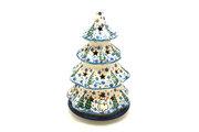"""Ceramika Artystyczna Polish Pottery Christmas Tree Luminary - Large (8"""") - Unikat Signature - U4661 602-U4661 (Ceramika Artystyczna)"""