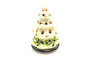 """Ceramika Artystyczna Polish Pottery Christmas Tree Luminary - Small (6"""") - Mistletoe 512-2390a (Ceramika Artystyczna)"""