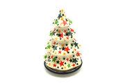 """Ceramika Artystyczna Polish Pottery Christmas Tree Luminary - Small (6"""") - Star Studded 512-2258a (Ceramika Artystyczna)"""