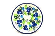 Ceramika Artystyczna Polish Pottery Coaster - Blue Berries 262-1416a (Ceramika Artystyczna)