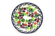Ceramika Artystyczna Polish Pottery Coaster - Burgundy Berry Green 262-1415a (Ceramika Artystyczna)