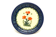 Ceramika Artystyczna Polish Pottery Coaster - Peach Spring Daisy 262-560a (Ceramika Artystyczna)