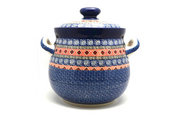 Ceramika Artystyczna Polish Pottery Cookie Jar - 14 cups - Aztec Sun 173-1350a (Ceramika Artystyczna)