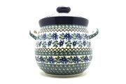 Ceramika Artystyczna Polish Pottery Cookie Jar - 14 cups - Blue Chicory 173-976a (Ceramika Artystyczna)