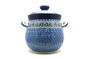 Ceramika Artystyczna Polish Pottery Cookie Jar - 14 cups - Peacock Feather 173-1513a (Ceramika Artystyczna)