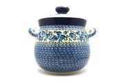 Ceramika Artystyczna Polish Pottery Cookie Jar - 14 cups - Winter Viola 173-2273a (Ceramika Artystyczna)