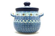 Ceramika Artystyczna Polish Pottery Cookie Jar - 7 cups- Blue Yonder 172-2187a (Ceramika Artystyczna)