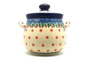 Ceramika Artystyczna Polish Pottery Cookie Jar - 7 cups- Cherry Jubilee 172-2284a (Ceramika Artystyczna)
