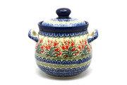 Ceramika Artystyczna Polish Pottery Cookie Jar - 7 cups - Crimson Bells 172-1437a (Ceramika Artystyczna)