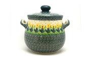 Ceramika Artystyczna Polish Pottery Cookie Jar - 7 cups - Daffodil 172-2122q (Ceramika Artystyczna)