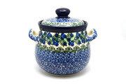 Ceramika Artystyczna Polish Pottery Cookie Jar - 7 cups- Huckleberry 172-1413a (Ceramika Artystyczna)