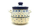 Ceramika Artystyczna Polish Pottery Cookie Jar - 7 cups- Silver Lace 172-2158a (Ceramika Artystyczna)