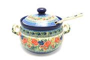 Ceramika Artystyczna Polish Pottery Covered Tureen and Ladle Set - Unikat Signature - U4400 S19-U4400 (Ceramika Artystyczna)