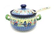 Ceramika Artystyczna Polish Pottery Covered Tureen and Ladle Set - Unikat Signature - U4600 S19-U4600 (Ceramika Artystyczna)